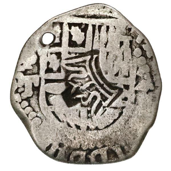 "Guatemala, 2 reales ""moclon,"" crown countermark (1662, Perez Longo Type A) on shield side of a Potos"