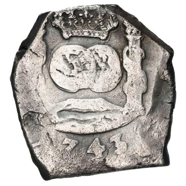 Guatemala, cob 8 reales, 1743 J, upside-down G in DG, ex-Reijgersdaal.