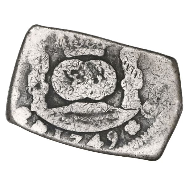 Guatemala, cob 8 reales, 1749 J.
