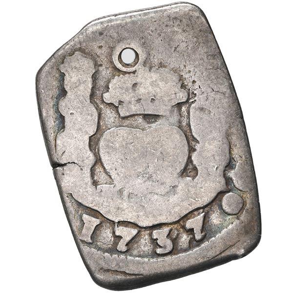 Guatemala, cob 2 reales, 1737 (J).
