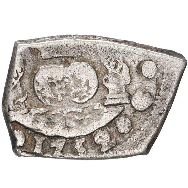 Guatemala, cob 2 reales, 1752 J.