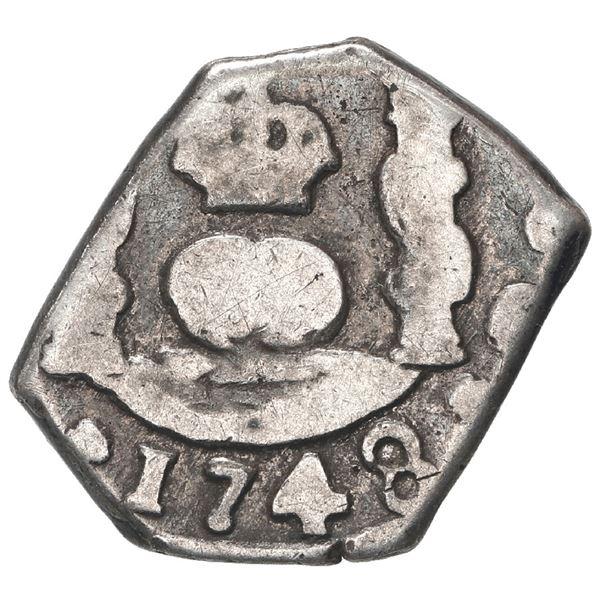 Guatemala, cob 1 real, 1748 J, ex-Trastamara.