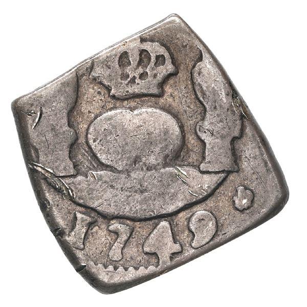 Guatemala, cob 1 real, 1749 (J), rare.