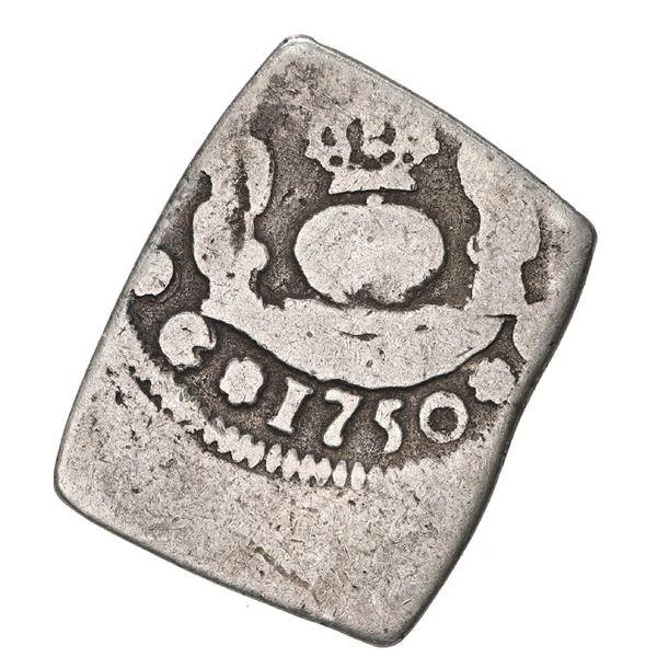 Guatemala, cob 1 real, 1750 J, ex-Trastamara.