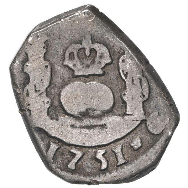 Guatemala, cob 1 real, 1751 J, ex-Trastamara.