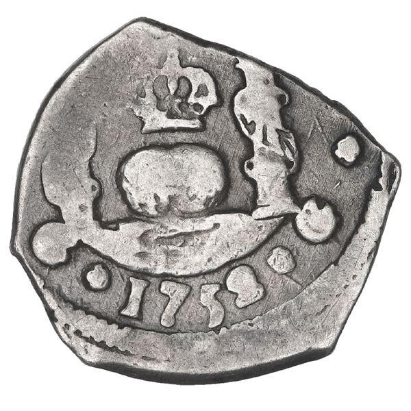 Guatemala, cob 1 real, 1752 J, ex-Trastamara.