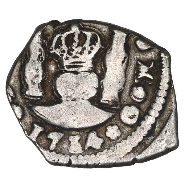 Guatemala, cob 1/2 real, 1734 J.