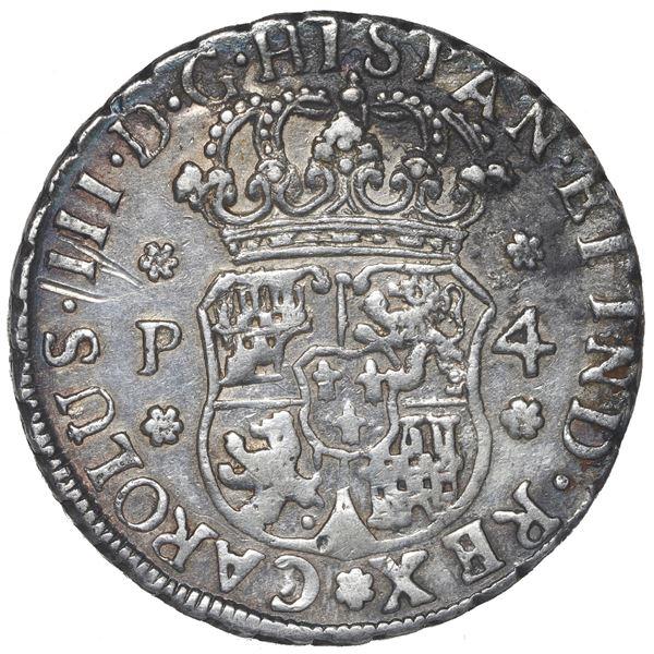 Guatemala, pillar 4 reales, Charles III, 1769 P.