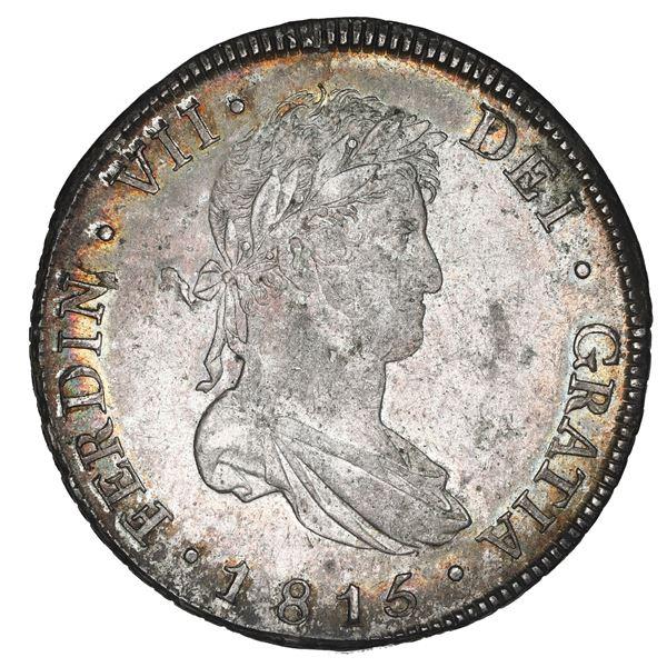 Guatemala, bust 8 reales, Ferdinand VII, 1815 M, NGC MS 61.
