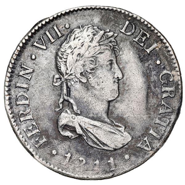 Guatemala, bust 2 reales, Ferdinand VII, 1811 M, rare.