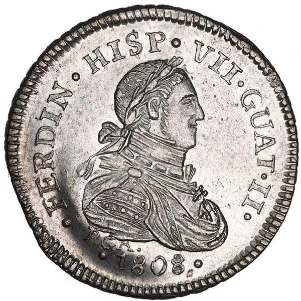 Guatemala, 1 real proclamation medal, Ferdinand VII, 1808-PGA, FERDIN variety, NGC MS 62, finest and