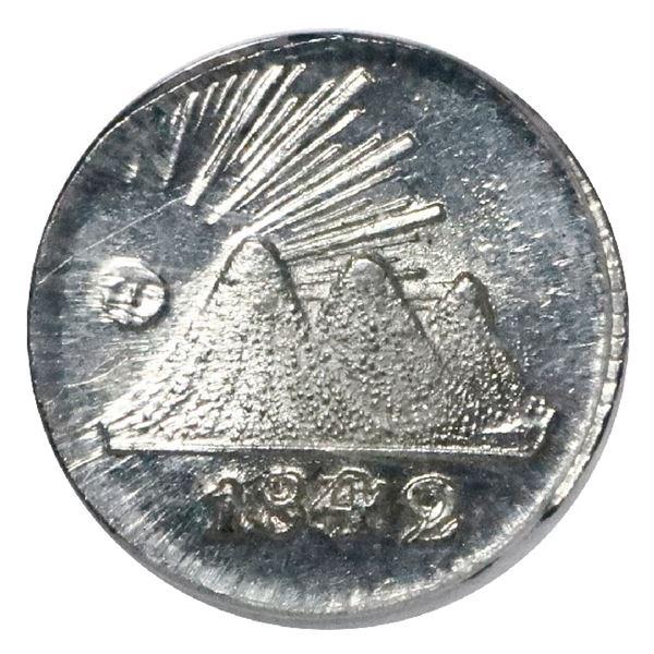 Guatemala (Central American Republic), 1/4 real, 1842/37, PCGS MS66.