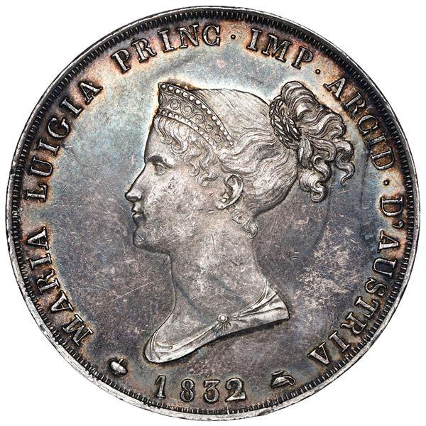 Parma (Italian States), 5 lire, Maria Luigia, 1832/15, NGC AU 58.