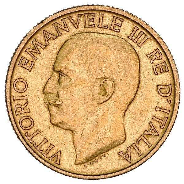 Rome, Italy (Kingdom), gold 20 lire, Vittorio Emanuele III, 1923, Fascist anniversary, NGC MS 61.