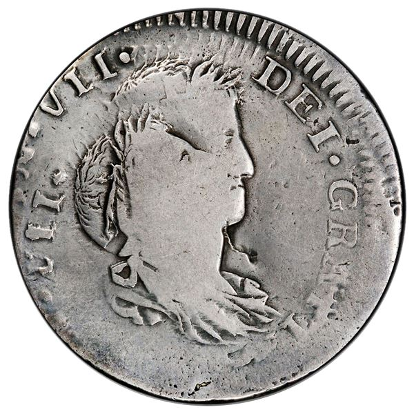 Guadalajara, Mexico, bust 8 reales, Ferdinand VII, date not visible (1812-15), assayer MR, PCGS Mint