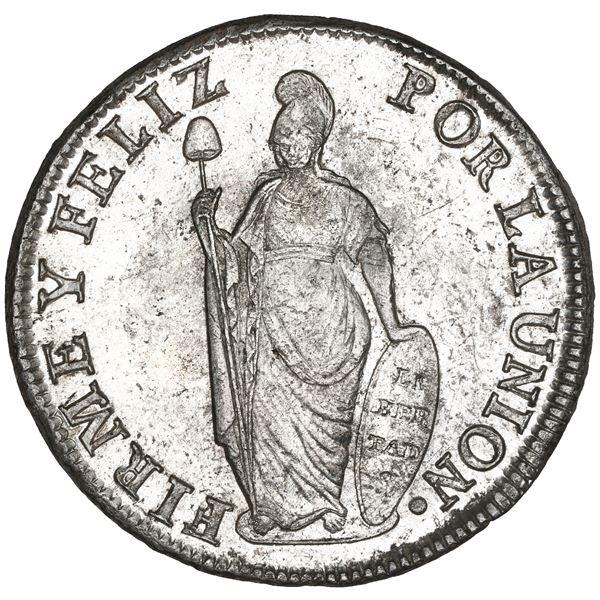 Lima, Peru, 8 reales, 1831 MM, NGC MS 62.