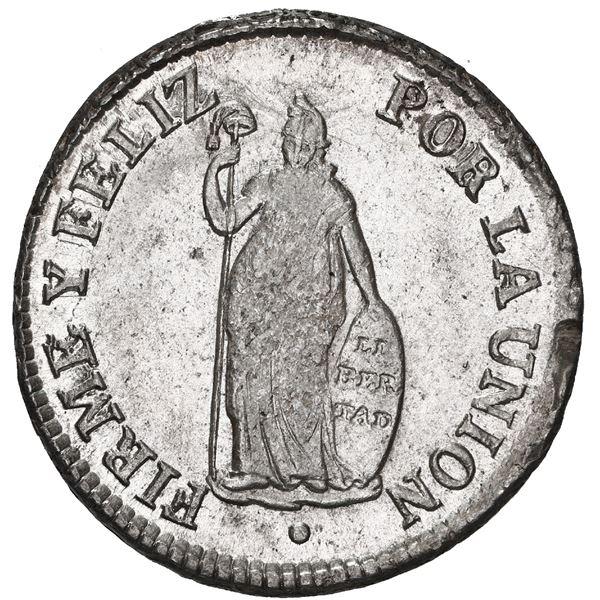 Lima, Peru, 2 reales, 1828JM.
