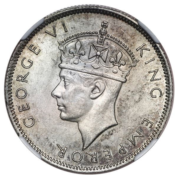 Southern Rhodesia, 2 shillings, 1944, NGC MS 62.