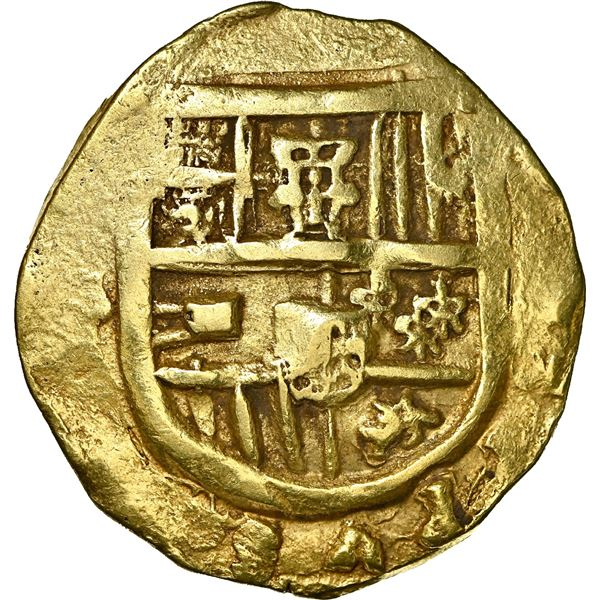Seville, Spain, gold cob 8 escudos, Philip IV [sic], 1668 (M?), NGC AU 58, finest and only example i