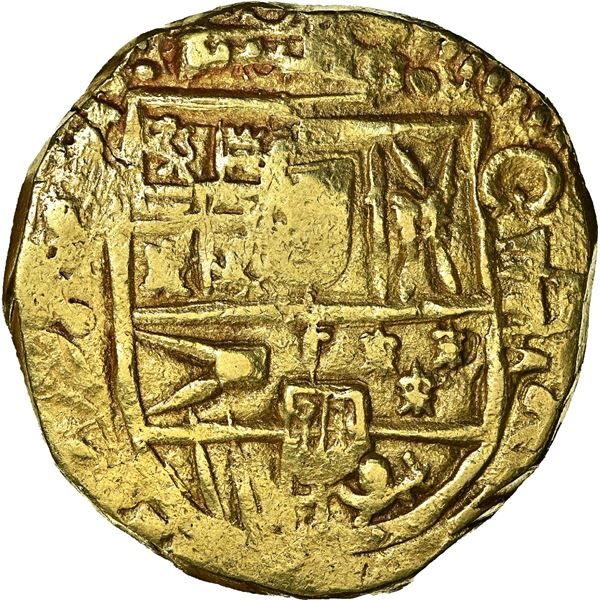 Seville, Spain, gold cob 8 escudos, Charles II, 1689/8 (M), NGC MS 62, finest and only example in NG