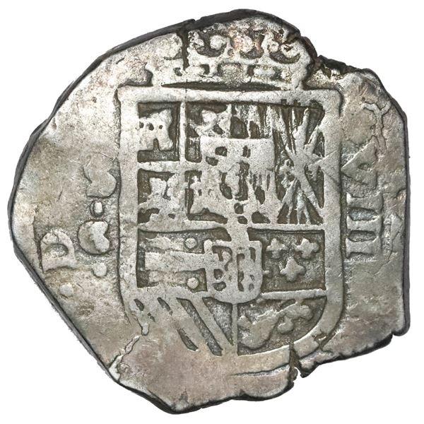 Seville, Spain, cob 8 reales Philip III, 1620 G.