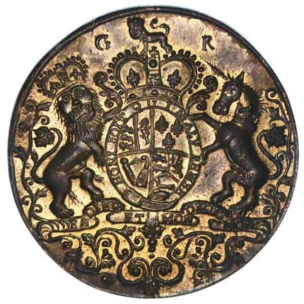 Great Britain, copper alloy Admiral Vernon medal, arms / Porto Bello, 1739, ex-Adams, ex-Chao, ex-Fe