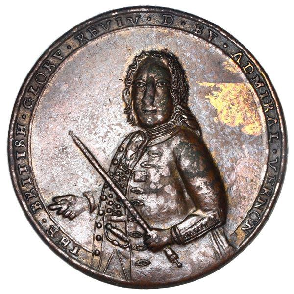 Great Britain, copper alloy Admiral Vernon medal, Vernon / Porto Bello, 1739, ex-Adams, ex-Chao, ex-