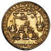 Image 2 : Great Britain, small gilt copper alloy Admiral Vernon medal, Vernon and Brown / Porto Bello, 1739, e