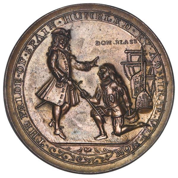 Great Britain, copper alloy Admiral Vernon medal, Vernon and Lezo / Porto Bello, 1739, ex-Adams, ex-