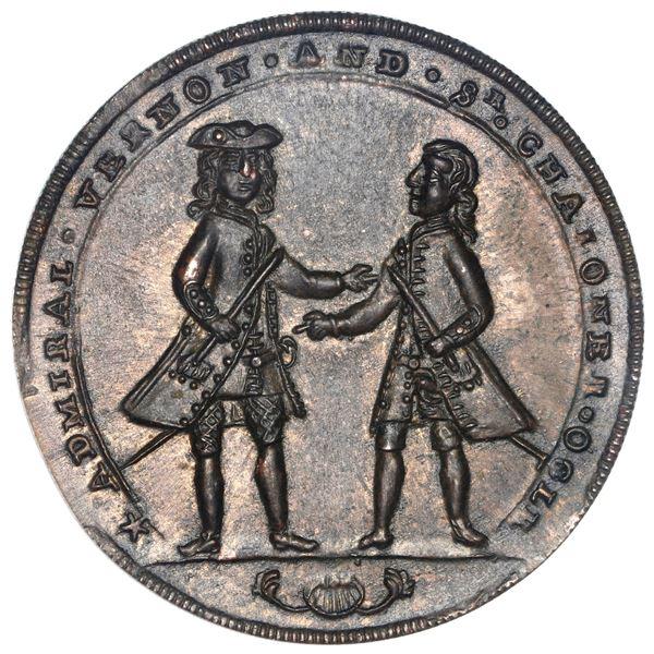 Great Britain, copper alloy Admiral Vernon medal, Vernon and Ogle / Cartagena, 1741, ex-Adams (Plate