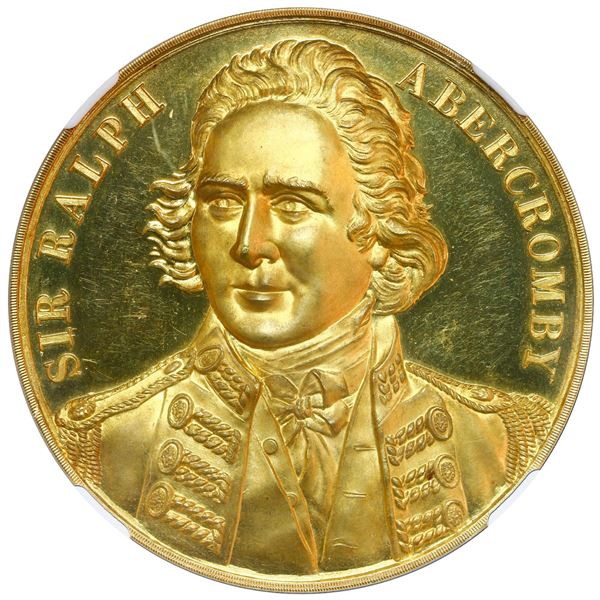 Great Britain, proof gold medal, (1897), Sir Ralph Abercromby / centennial of the conquest of Trinid