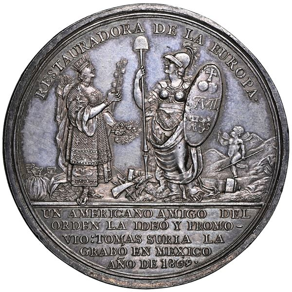 Mexico, large silver medal, 1809, establishment of the Supreme Junta General of Spain and the Indies