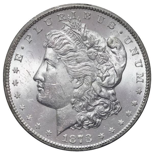 USA (Carson City Mint), Morgan silver dollar, 1878-CC, in GSA holder with original box and certifica