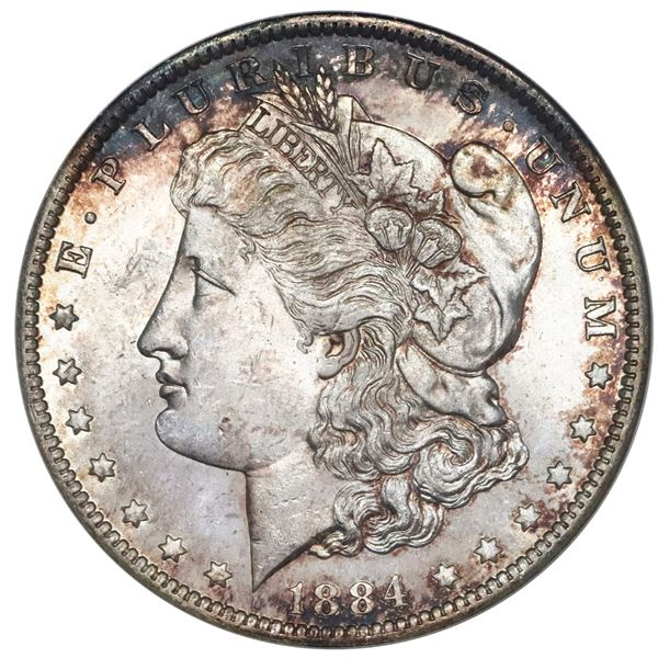 USA (New Orleans Mint), Morgan silver dollar, 1884-O, ANACS MS 63 (first generation holder).
