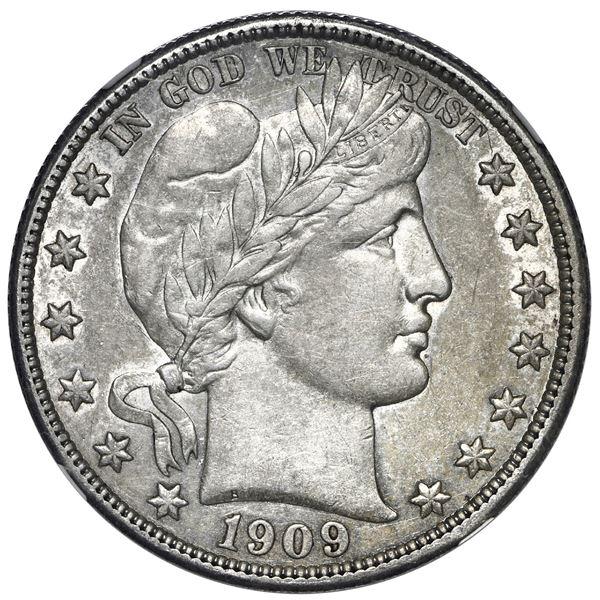 USA (Philadelphia Mint), Barber half dollar, 1909, NGC AU 53.
