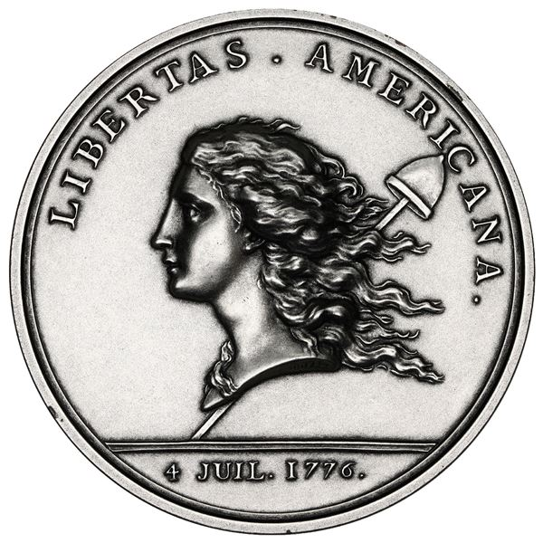 """USA (struck at the Paris Mint), silver medal, """"Libertas Americana"""" (1783) restrike from 1980s, NGC M"""