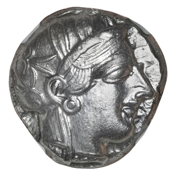 "Attica, Athens, AR tetradrachm ""owl,"" ca. 440-404 BC, NGC Ch AU, strike 5/5, surface 4/5."