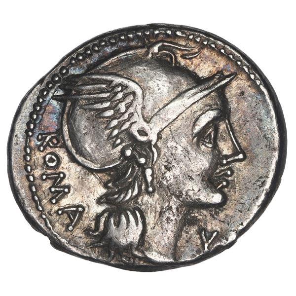 Roman Republic, AR denarius, L. Flaminius Cilo, ca. 109/8 BC.
