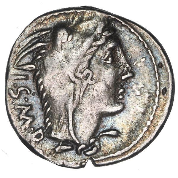 Roman Republic, AR denarius, L. Thorius Balbus, ca. 105 BC.