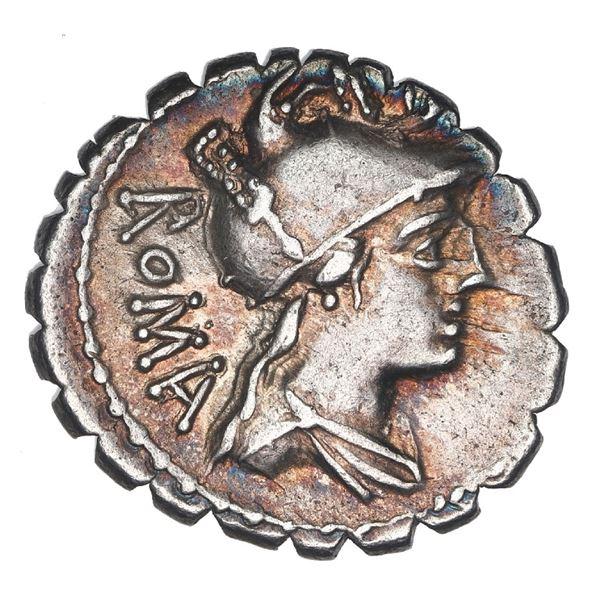 Roman Republic, AR denarius, C. Publicius Q. f., ca. 80 BC.
