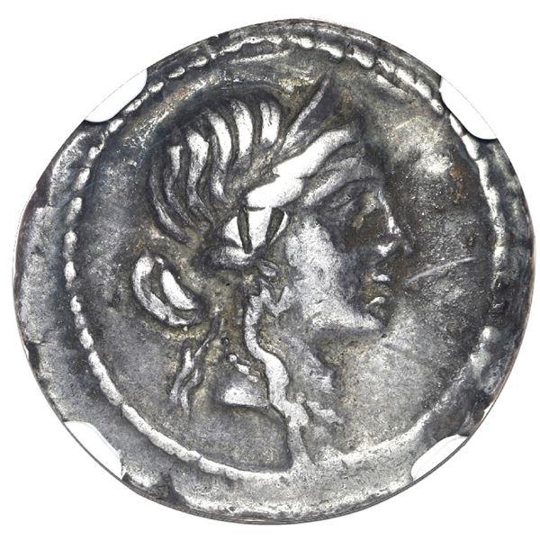 Roman Imperatorial, AR denarius, Julius Caesar, military mint traveling with Caesar in North Africa,