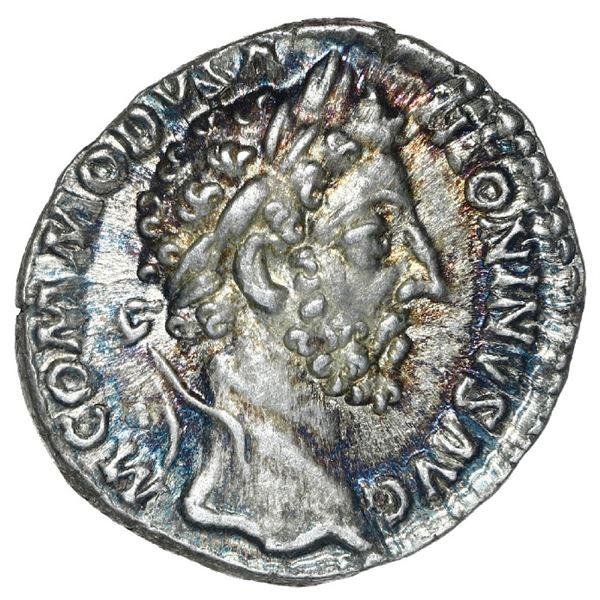 Roman Empire, AR denarius, Commodus, 177-192 AD.
