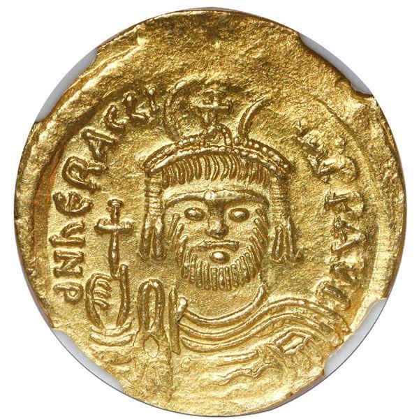 Byzantine Empire, AV solidus, Heraclius, 610-641 AD, Constantinople mint, NGC AU, strike 4/5, surfac