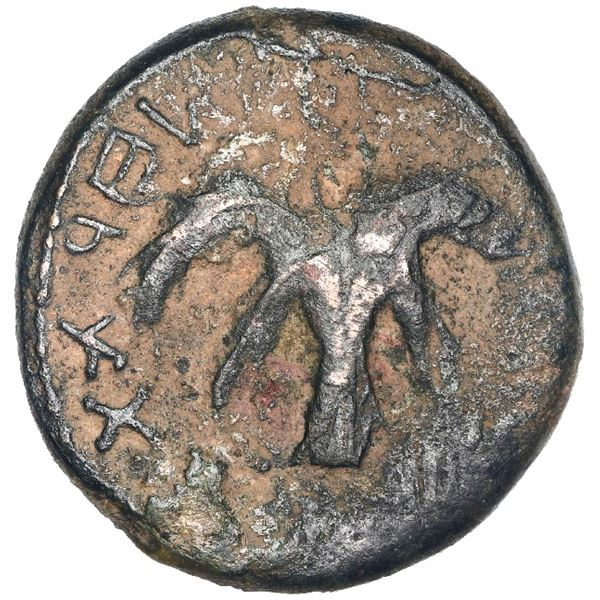 Ancient Judaea, AE (medium size), Bar Kochba second revolt, 133/4 AD, year 2.