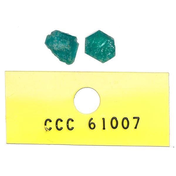 Small natural emerald, 1.31 carats, class 1B, ex-Atocha (1622).
