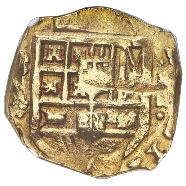 Seville, Spain, cob 8 escudos, Philip IV, assayer R, NGC UNC details / cleaned.