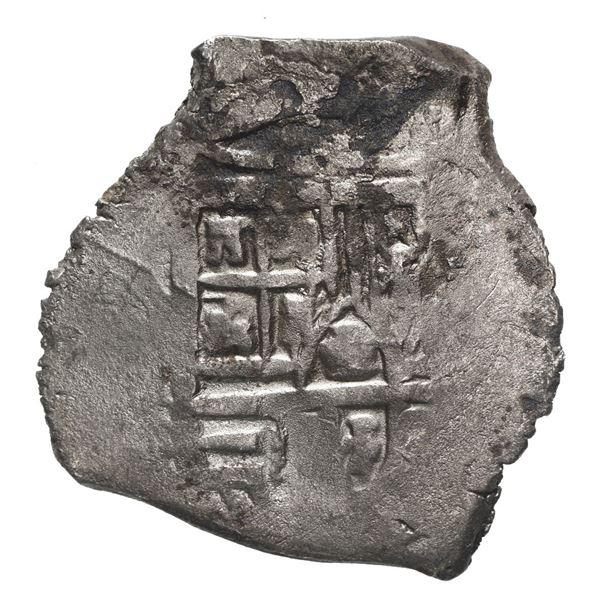Mexico City, Mexico, cob 4 reales, Philip IV, assayer not visible.