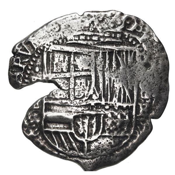 Potosi, Bolivia, cob 8 reales, (1651-2) E, with uncommon crown-alone (Mastalir K6a) countermark on c