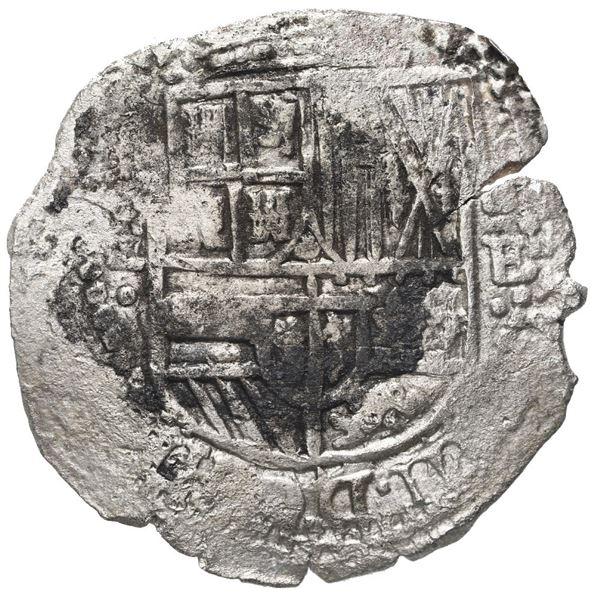 Potosi, Bolivia, cob 8 reales, (1651-2) E, no countermark (rare), Mastalir plate.