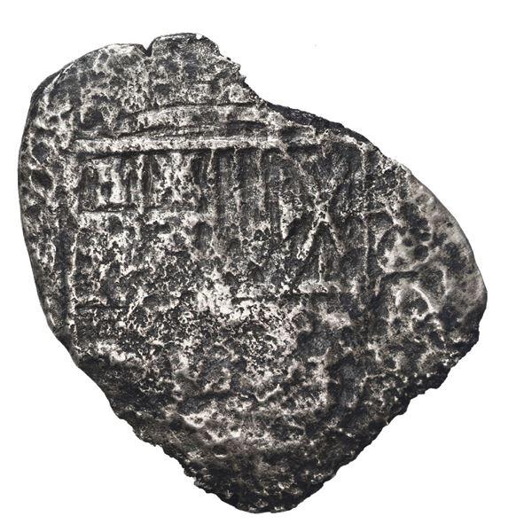 Potosi, Bolivia, cob 8 reales, (1650-2) O or E, with uncommon crown-alone (Mastalir K4o1) countermar